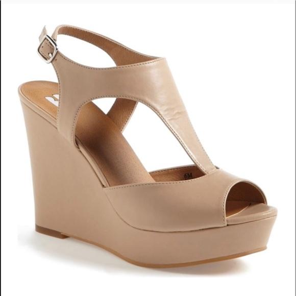 7081bf75336 bp Shoes - BP Springs Nude Wedges